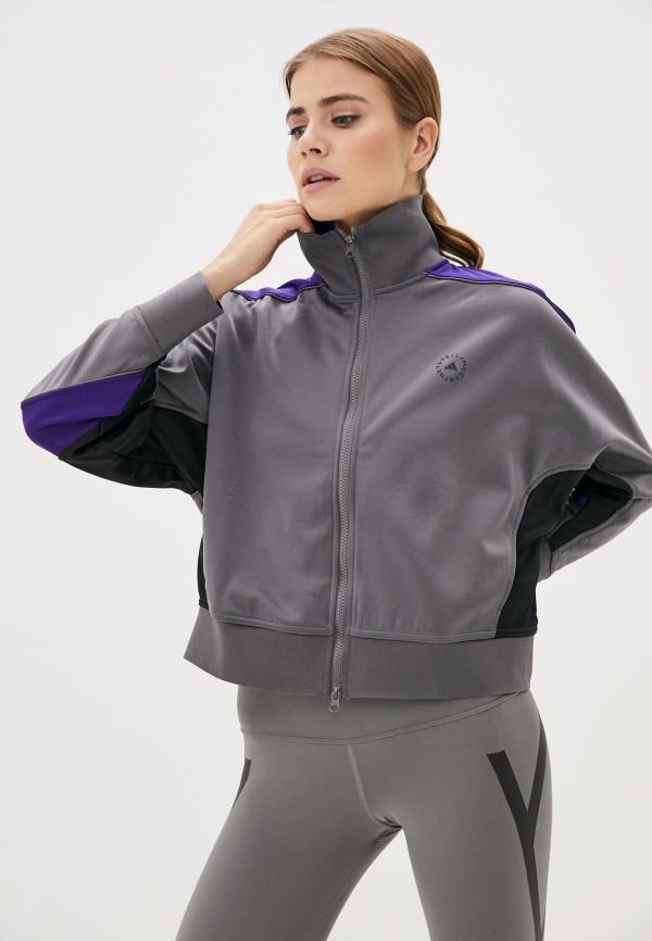 женская олимпийка adidas by stella mccartney, серая