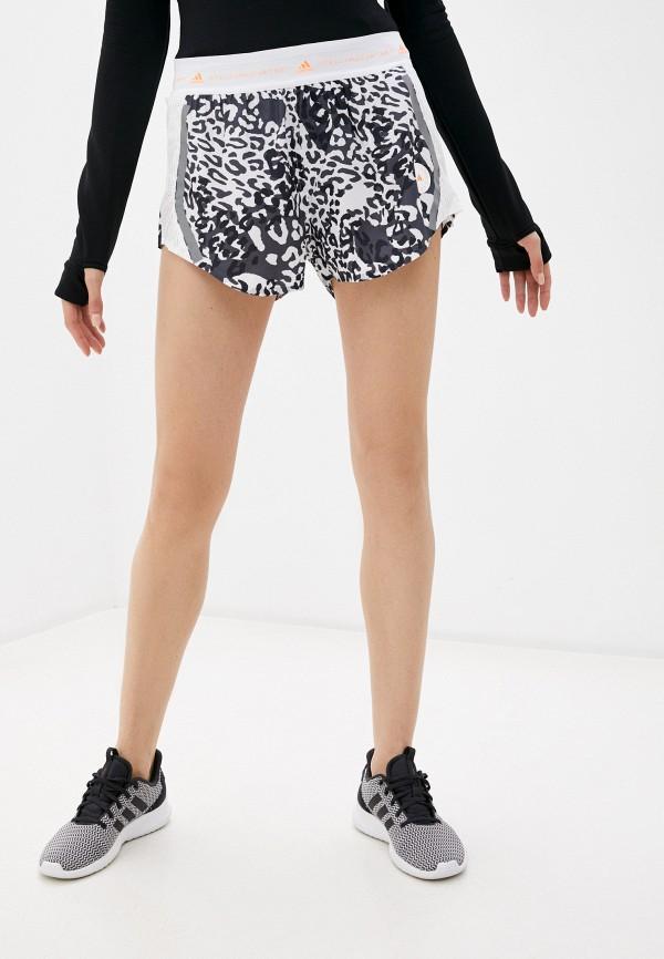 женские спортивные шорты adidas by stella mccartney, белые