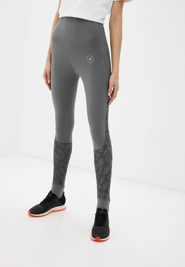 женские спортивные леггинсы adidas by stella mccartney, серые