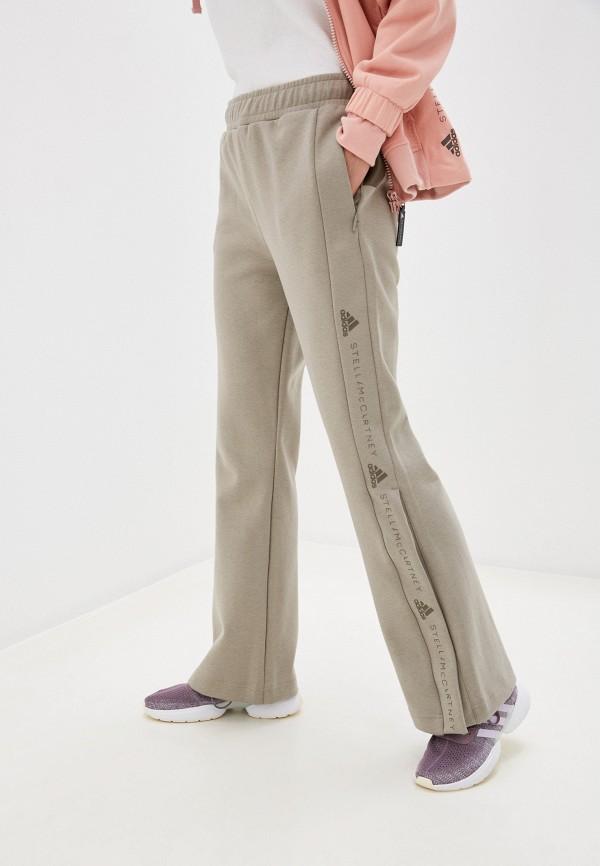 женские спортивные брюки adidas by stella mccartney, бежевые