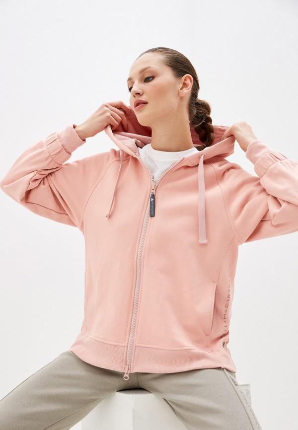 женская толстовка adidas by stella mccartney, розовая