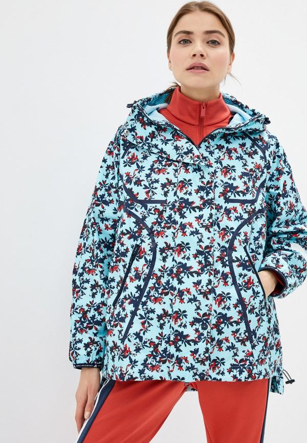 женская ветровка adidas by stella mccartney, голубая