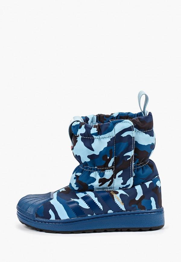 дутики adidas для мальчика, синие