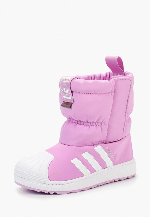 Купить Дутики adidas Originals, adidas Originals AD093AGCCZR8, фиолетовый, Осень-зима 2018/2019