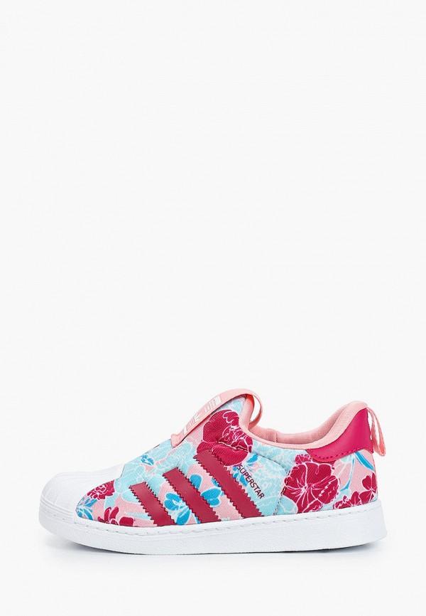 кеды adidas для девочки, розовые