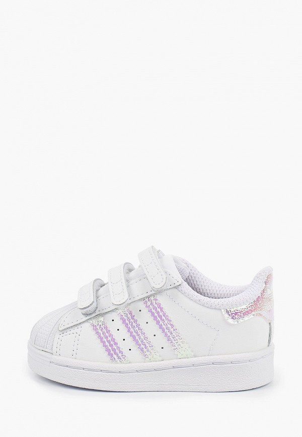 кеды adidas для девочки, белые