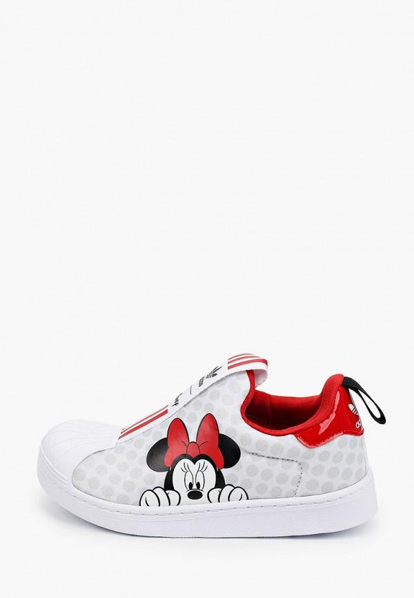 слипоны adidas для девочки, белые