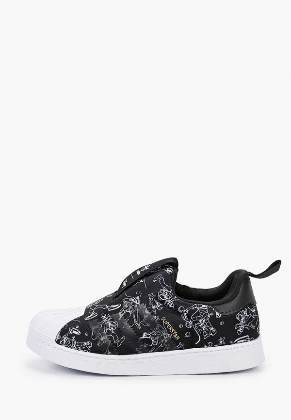 слипоны adidas малыши, черные