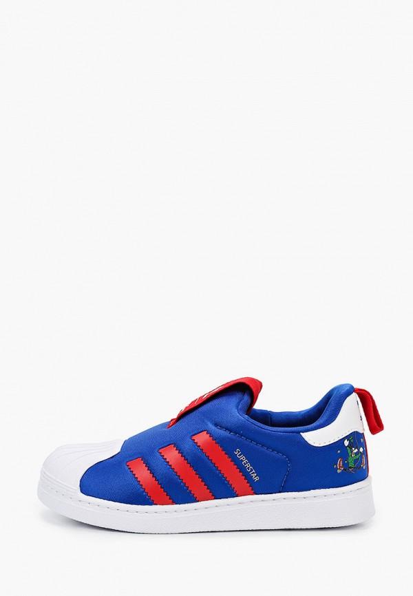 слипоны adidas малыши, синие