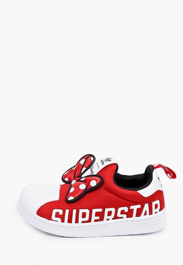 слипоны adidas малыши, красные