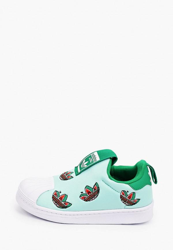 слипоны adidas малыши, зеленые