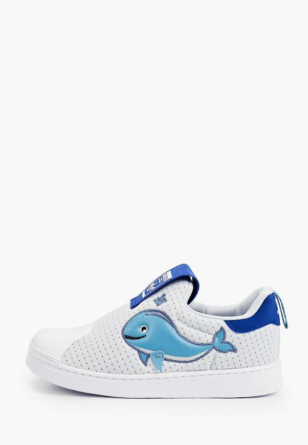 кеды adidas малыши, голубые