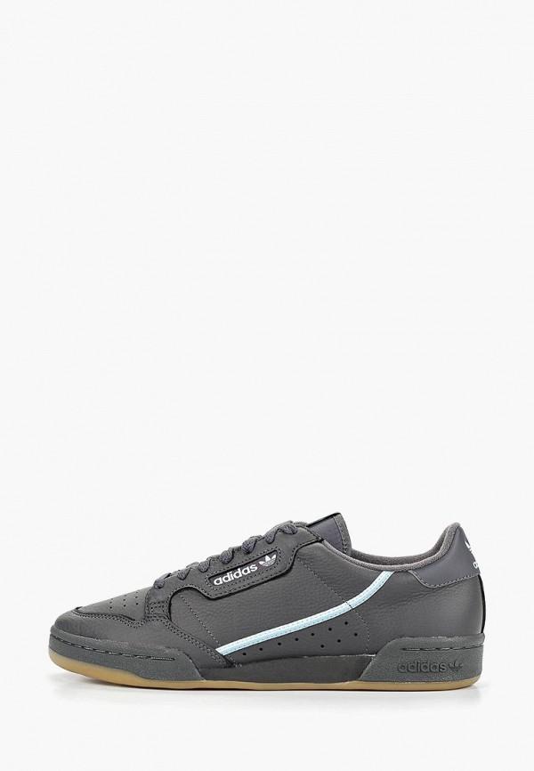 мужские низкие кеды adidas, серые