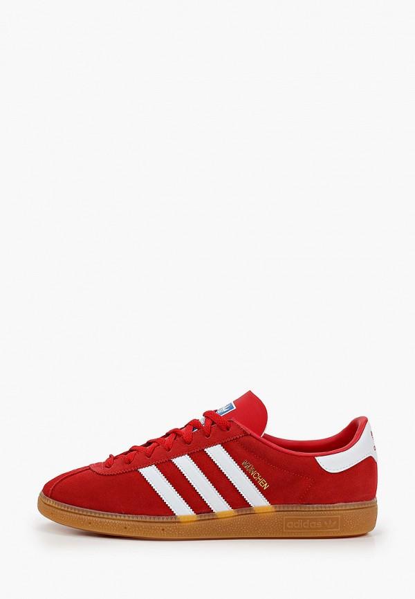 мужские низкие кеды adidas, красные