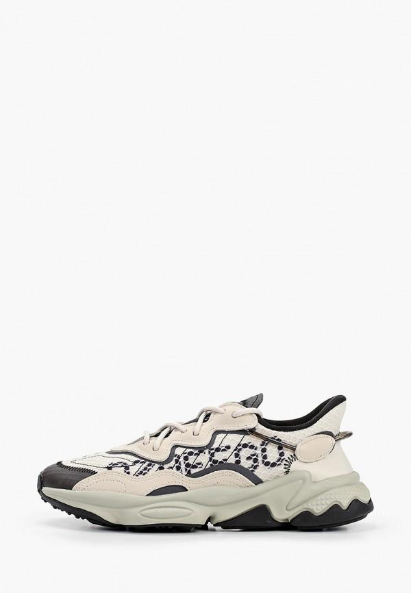женские кроссовки adidas, бежевые