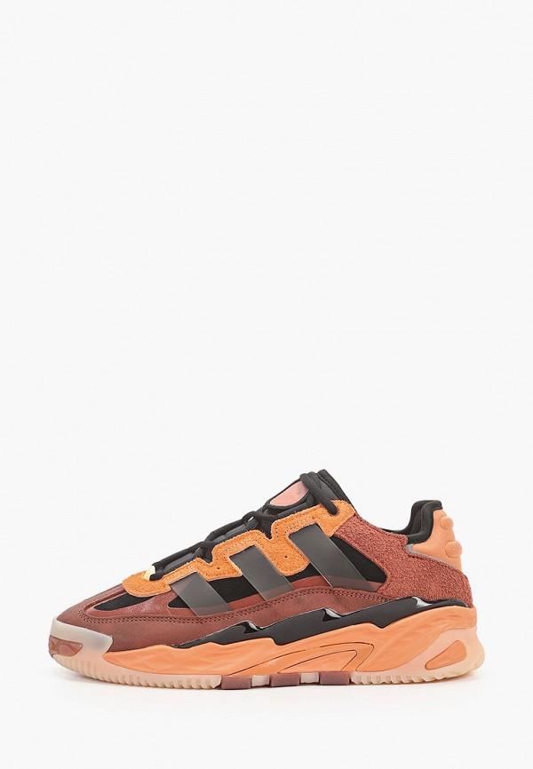 женские кроссовки adidas, коричневые