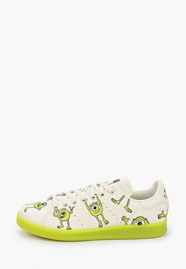 женские низкие кеды adidas, бежевые
