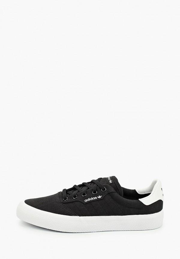 женские низкие кеды adidas, черные
