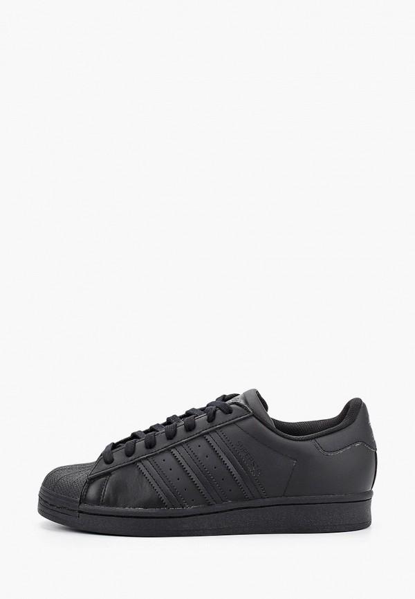 женские кеды adidas, черные