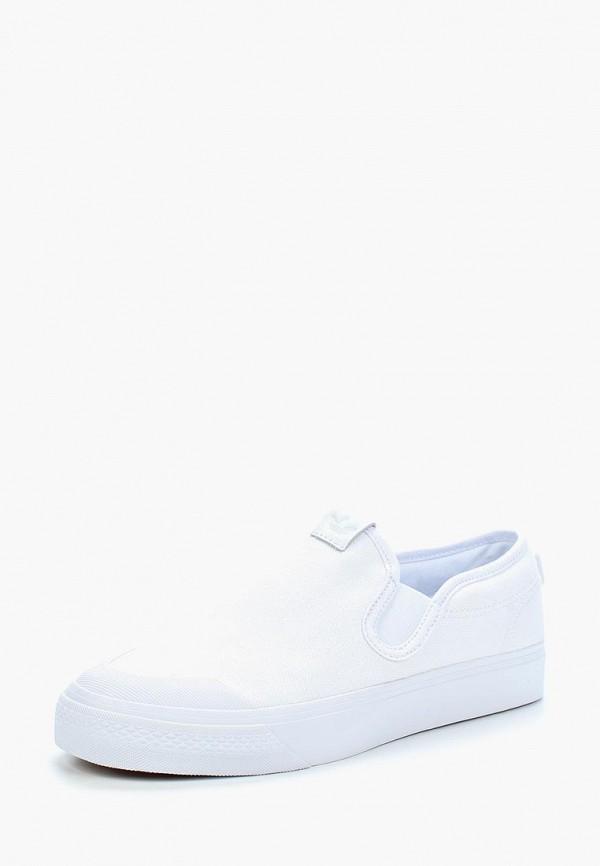 женские слипоны adidas, белые