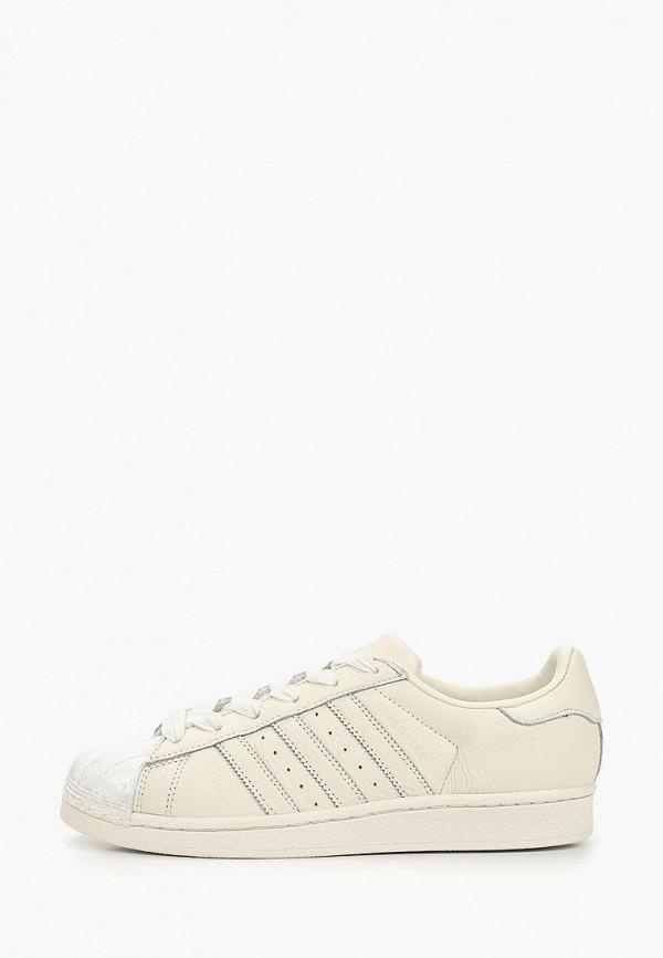 женские кеды adidas, бежевые
