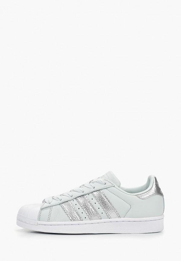 женские кеды adidas, бирюзовые
