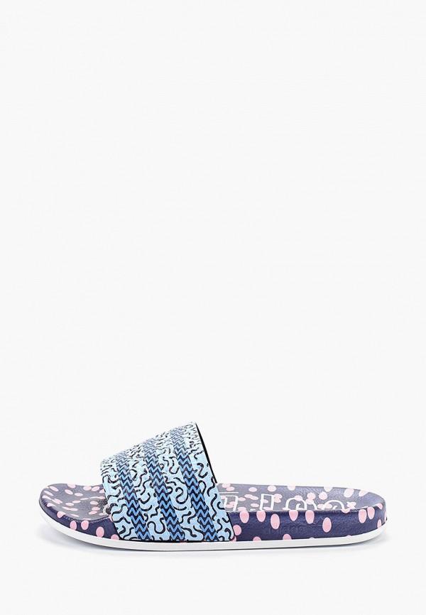 Купить Сланцы adidas Originals голубого цвета