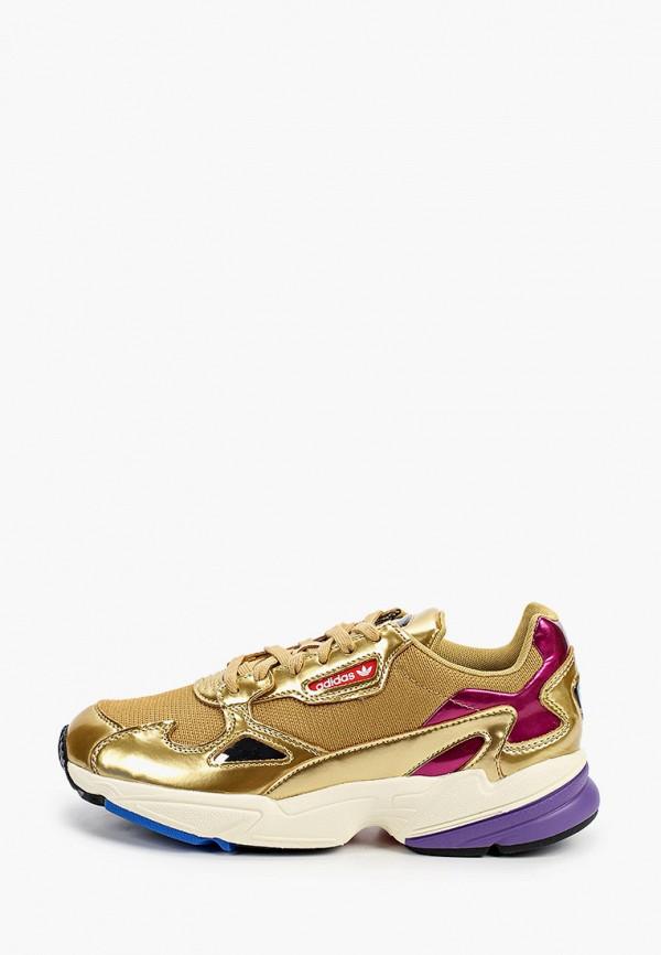 женские кроссовки adidas, золотые
