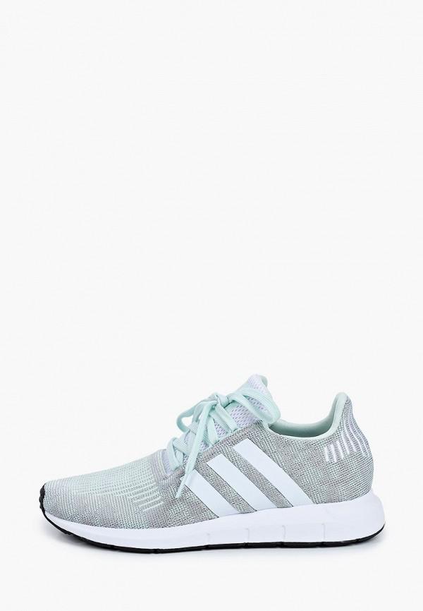 женские кроссовки adidas, зеленые