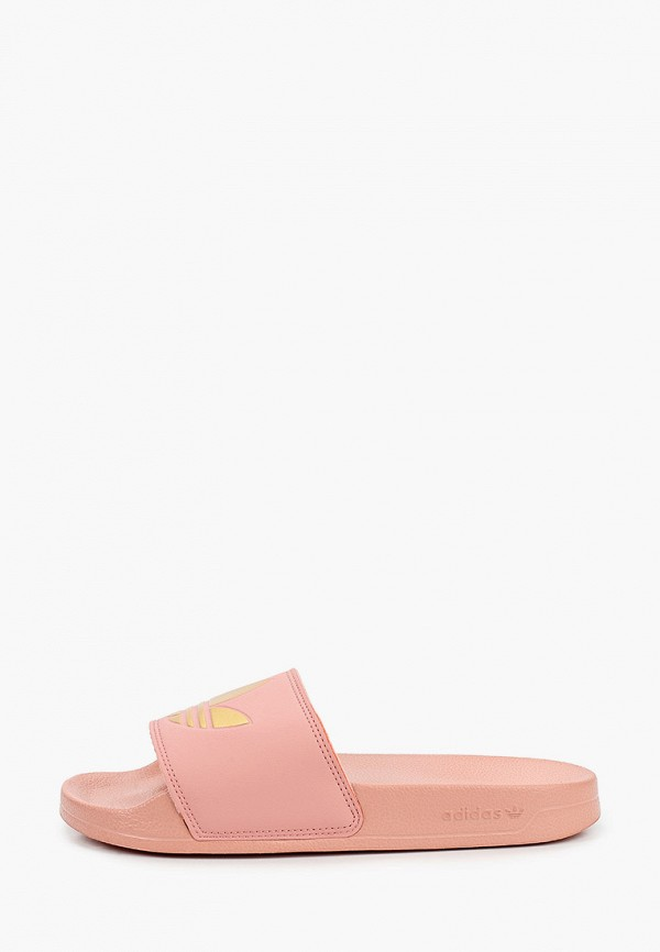 женские сланцы adidas, розовые