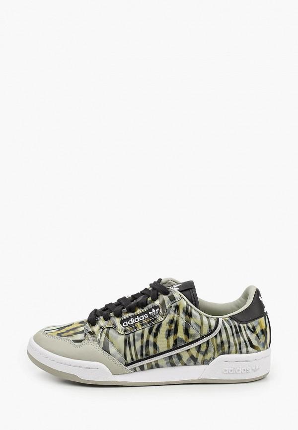 женские низкие кроссовки adidas, хаки