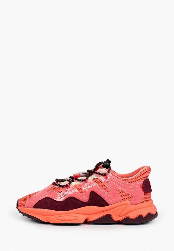 женские низкие кроссовки adidas, оранжевые
