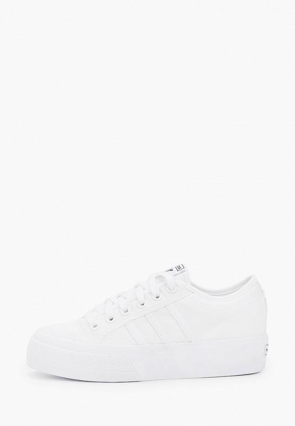 женские кеды adidas, белые