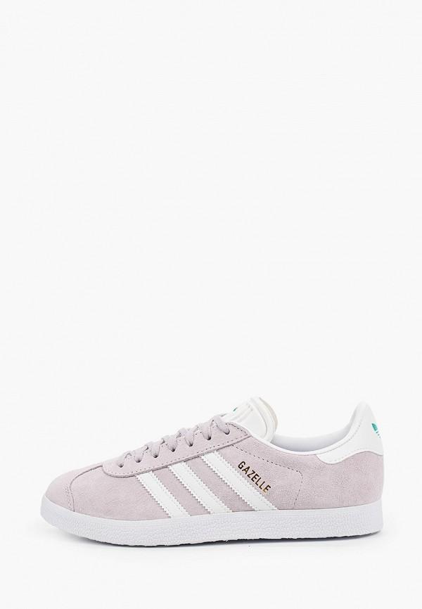 женские кеды adidas, фиолетовые