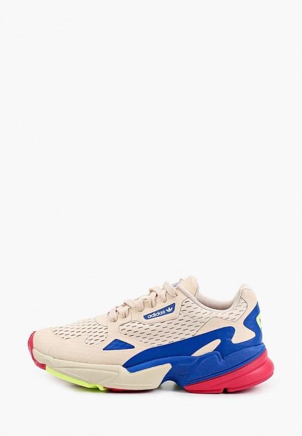 женские низкие кроссовки adidas, бежевые