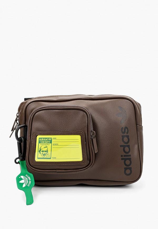 мужская сумка adidas, коричневая