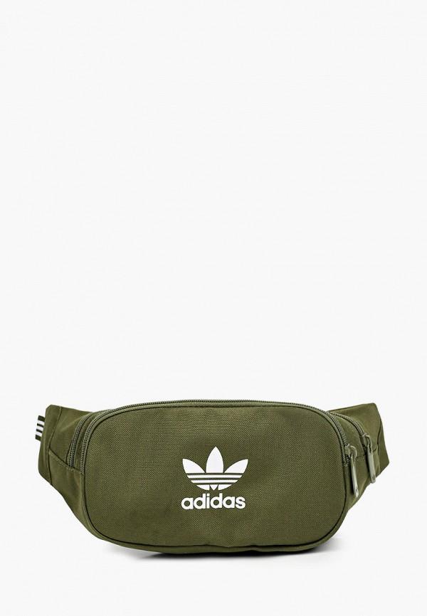 женская поясные сумка adidas, зеленая
