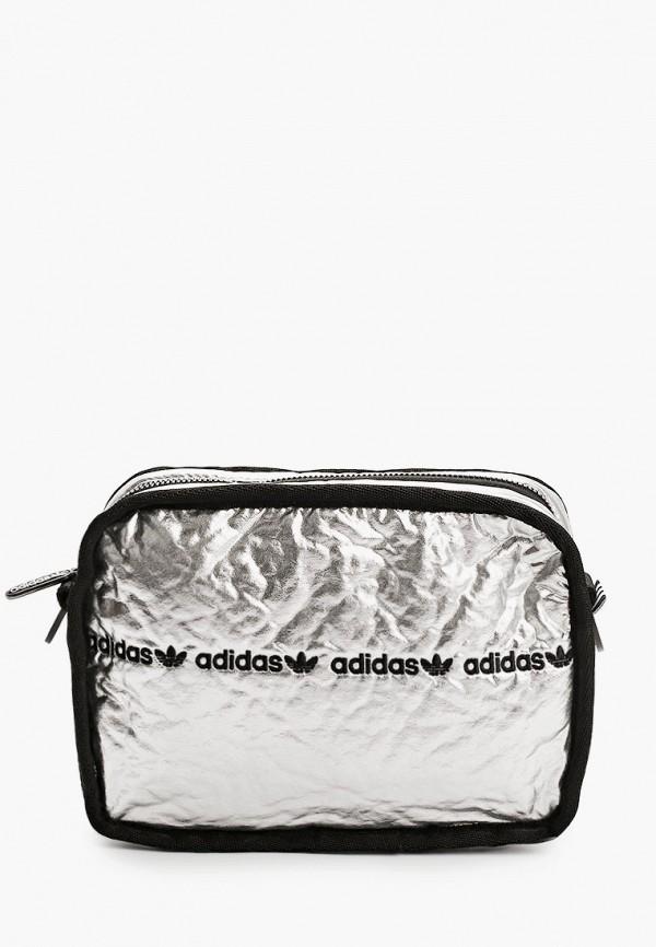 женская сумка через плечо adidas, серебряная
