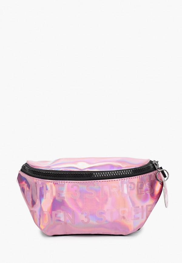 женская поясные сумка adidas, розовая