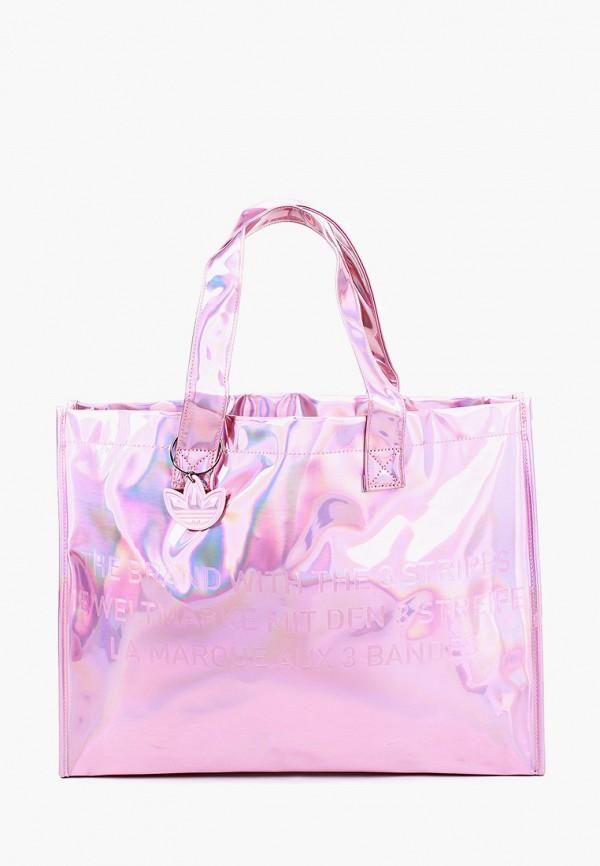 женская сумка-шоперы adidas, розовая