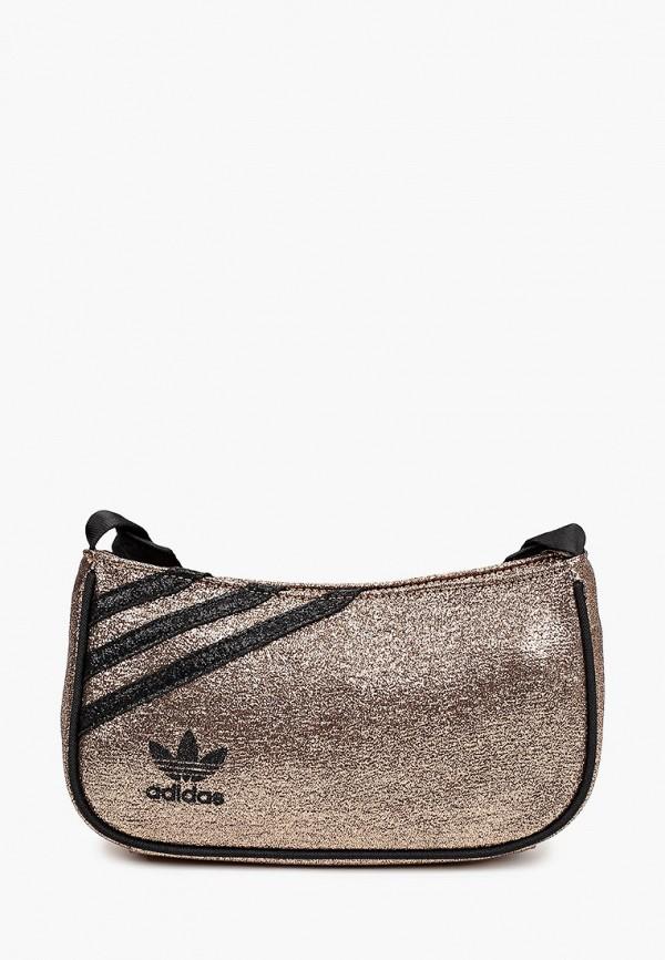 женская сумка через плечо adidas, золотая