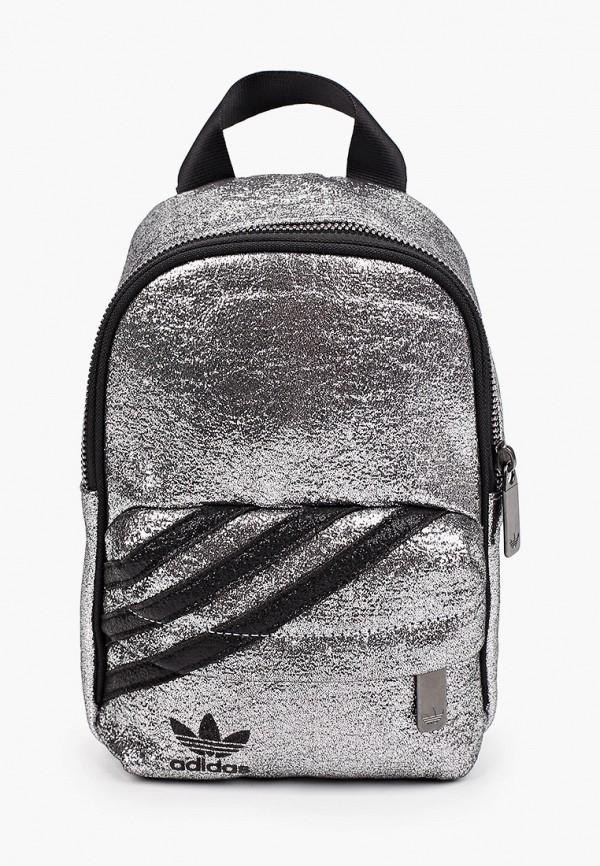 женский рюкзак adidas, серебряный
