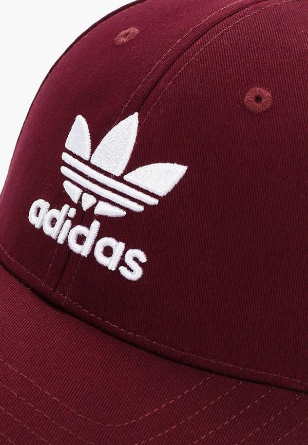 Фото 3 - Бейсболка adidas Originals бордового цвета