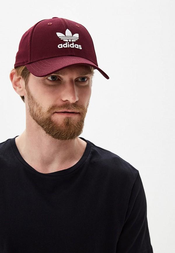 Фото 5 - Бейсболка adidas Originals бордового цвета
