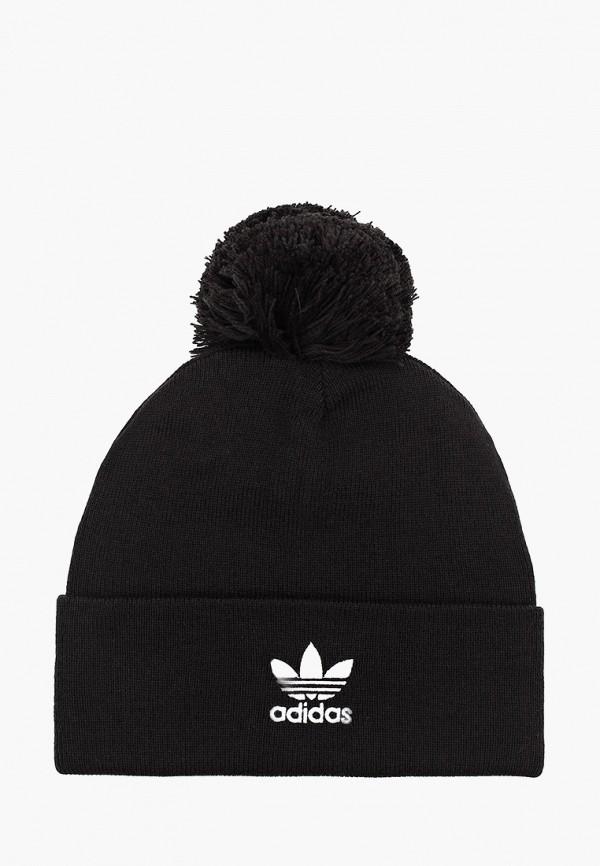 женская шапка adidas, черная