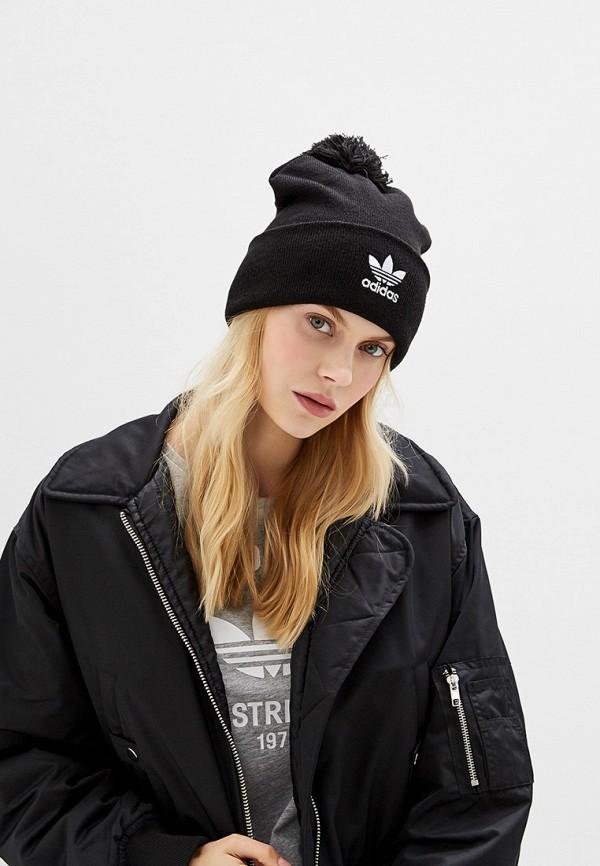 Фото 3 - Шапку adidas Originals черного цвета