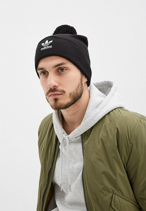Фото 4 - Шапку adidas Originals черного цвета