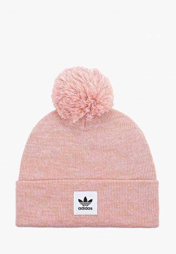 женская шапка adidas, розовая