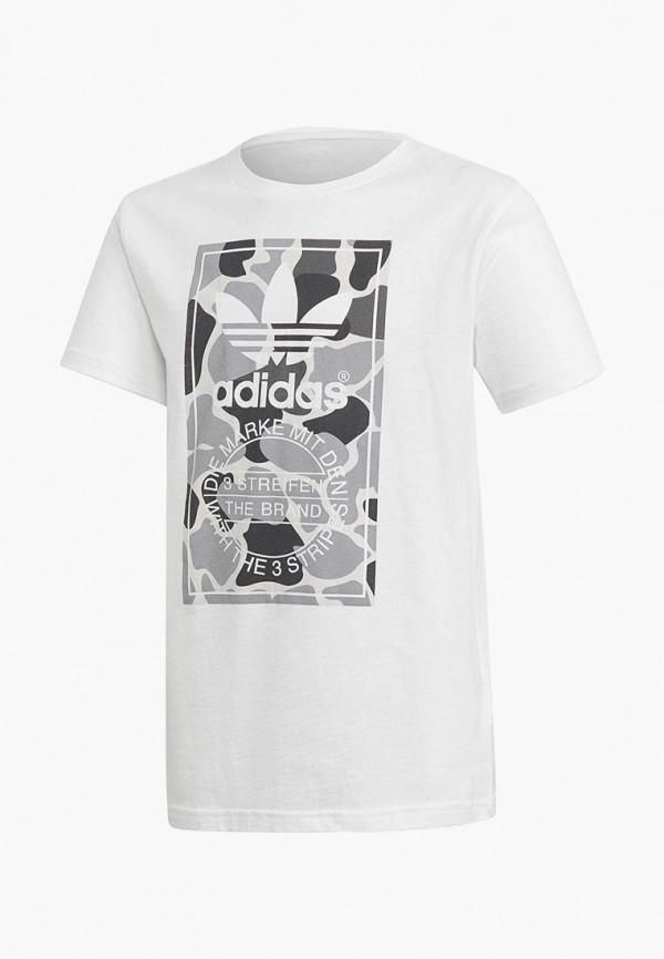 Купить Футболка adidas Originals, adidas Originals AD093EBCCZO6, белый, Осень-зима 2018/2019