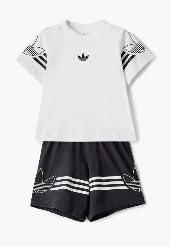 Купить Костюм спортивный adidas Originals, adidas Originals AD093EBEDUP4, белый, черный, Весна-лето 2019